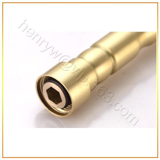 L16388-роскошный настенный золотой Латунный кухонный кран