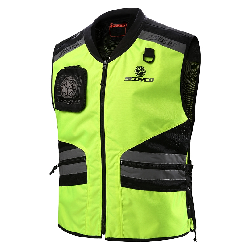 Roadway Safety Clothing Scoyco JK32 reflective protective vest kids motorcycle chaleco ciclismo reflectante ropa moto Green mens work clothing reflective coveralls windproof road safety maritime clothing protective clothes uniform workwear plus size
