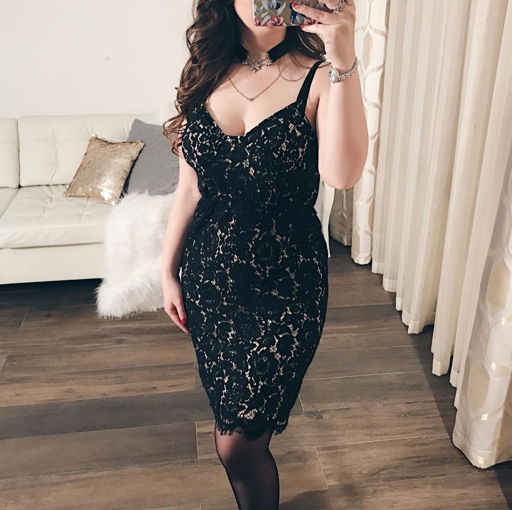 Blooming Jelly Spagetti Strap Dress Lace Floral Mini Short Dress Black Lining Casual Summer Dress 2016 Sun Dress Fashion
