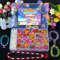 Diy Bracelet Toys Kids DIY Handmade String Beads Toy Set Puzzle Toys Jewelry Necklace Bracelet Making