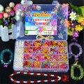 Pulseira DIY Handmade Brinquedos de Corda Beads Toy Kids, conjunto de Jóias Colar Pulseira Fazendo Bebê Educacional do Enigma Brinquedo/Brinquedos