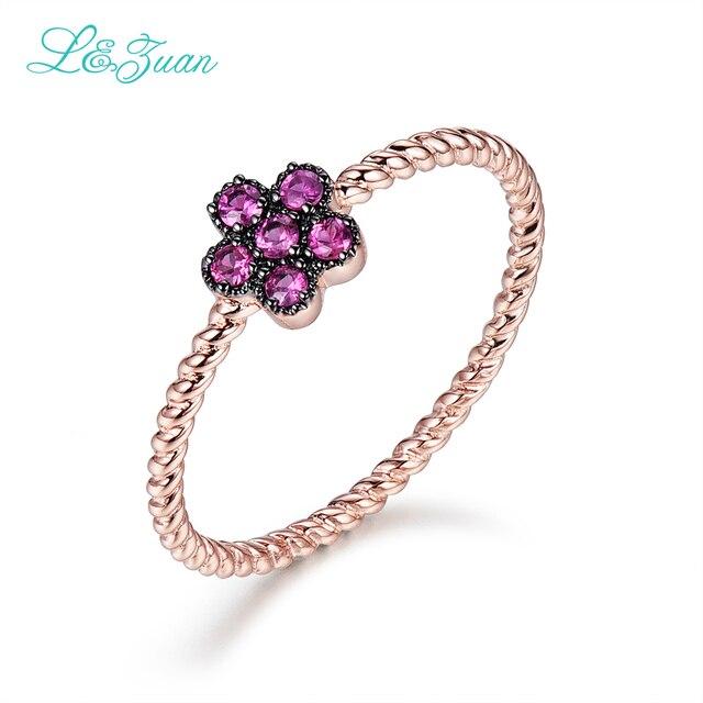 b4e591b768df L   Цзуань стерлингового-серебро-ювелирные изделия 14 К розовое золото  красный камень рубин