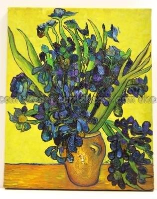 Oil Paintings On Canvas Flowers Still Life Vase With Irises Van Gogh