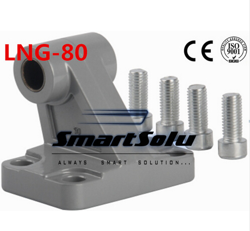 Free Shipping 5pcs/lots LNG - 80 ISO6431 cylinder attachment, inclined installation of the support, DNC, SE cylinder accessories