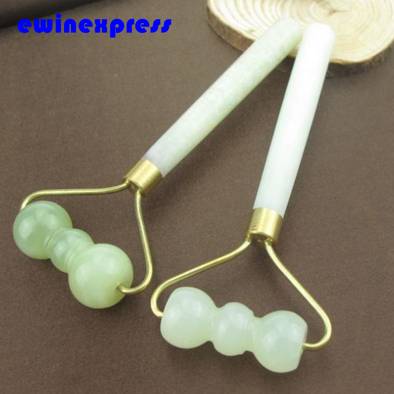 Natural Polished Agate Jade Stone Facial Slimming Massager Wand Sticks Jade Roller Therapy Health Skin Beauty Tool