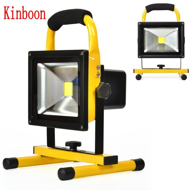 20w Floodlight Rechargeable Led Flood Light Lamp Portable Outdoor Spotlight Camping Work With Dc Car Charger
