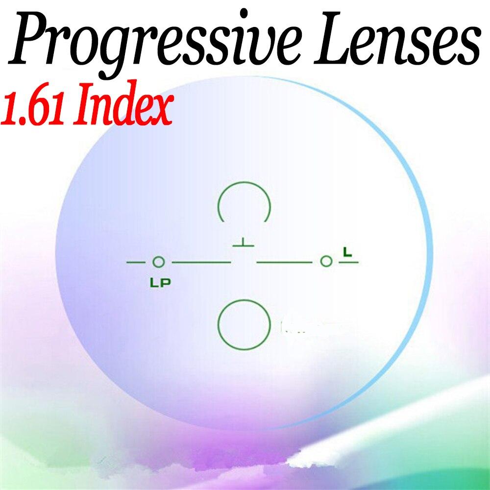 1.61 ASP Progressive lenses HMC myopia presbyopia lentes opticos glasses reading computer prescription lenses to see far & near