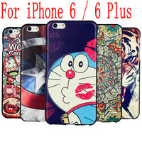 3D Stereo Relief Painting Cartoon Cute Soft TPU Cover Case For Apple IPhone 6 6 Plus