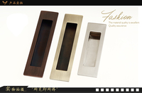 Zinc alloy square handle invisible Recessed furniture Handle conceal drawer flush pull
