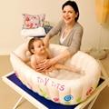 Bañera Bañera Bebé inflable Inflado de Seguridad de Dibujos Animados para Niños Pequeños Kid Protable Piscina Recién Nacido Baño de Asiento de Silla