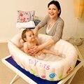 Novo banho do bebê banheira pode ser dobrado grande piscina inflável bacia