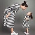 2017 mãe e filha se veste vestido xadrez de algodão mommy and me roupas olhar família mãe e filha combinando roupas