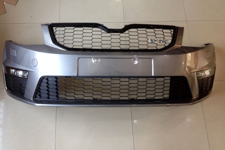 Unpainted RS VRS Front Bumper Assembly Honeycomb Design Race Grille Grill Air Guide Vents Body Kit
