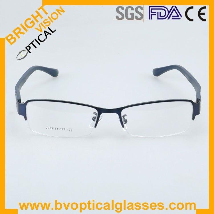 2299bluefront Factrory price half rim vintage optical frames eyewear glasses