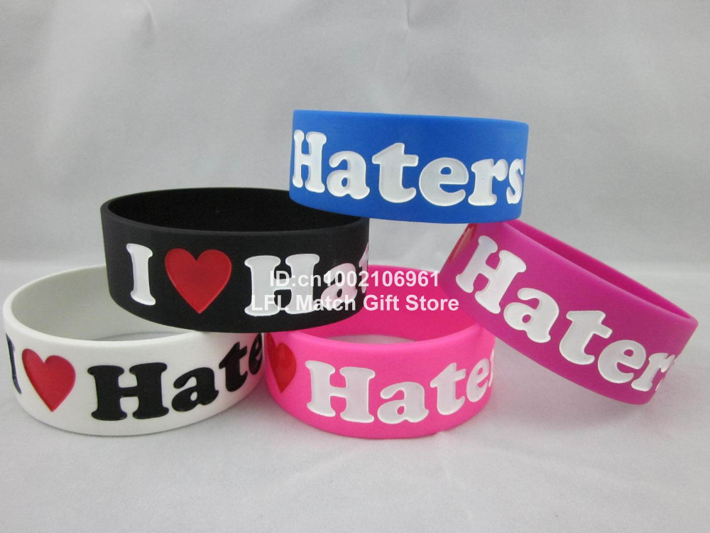 I Love Haters Wristband Heart My Haters Inspiration Song Bracelet Brand New
