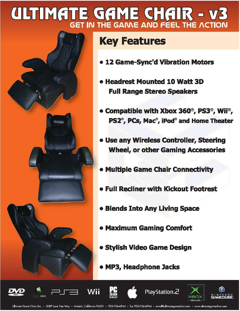 Ultimate game chair v3 - Model No V3 Name Game Chair
