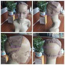 Регулируемая парик колпачок для изготовления хорошего качества парики, кружева ткачество колпачок размеры S/M/L бесклеевой Шапки хорошее качество, Бесплатная доставка