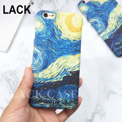 High Quality Van Gogh Night Starry Sky Oil Painting case For iPhone 5 cover For iPhone 5S 6 6S plus frosted Hard PC Phone Cases