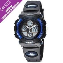 Ohsen reloj niños chico y chica estudiante de cuarzo digital de doble pantalla multifuncional impermeable reloj de pulsera deportivo reloj niño