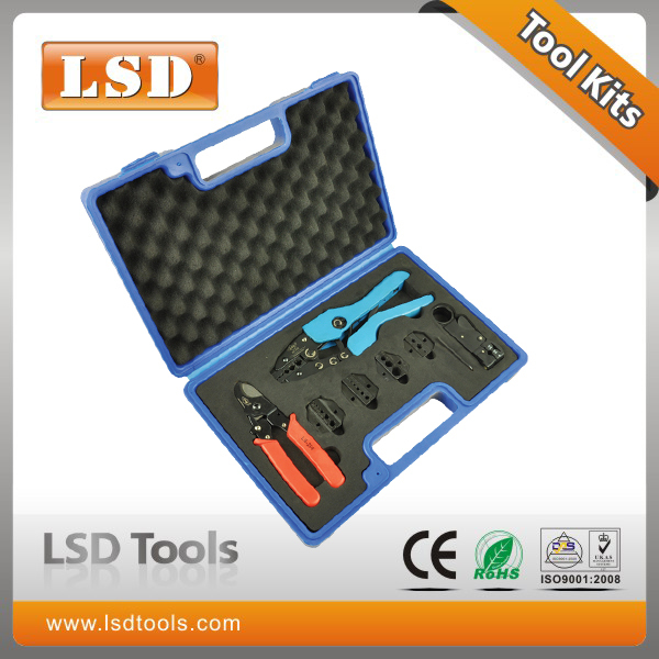 AN-05H-5A2 High Quality Combination Tools in plastic box with AN-05H Crimper LS-206 Cutter LS-312B Stripper and die sets
