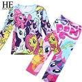 Olá desfrute crianças roupas conjuntos meninas Casual define vestuário ternos crianças pijamas crianças 2 peça sleepwear casa de moda 3 ~ 8 ano