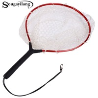 Sougayilang High Quality Super Strong Fly Fishing Net PE Material Red Color Drive In Net Monofilament