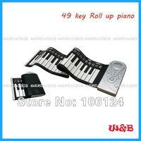 бесплатная доставка - высокое качество 49 ключи силикон рулона до ручной проката миди-клавиатуры фортепиано орган