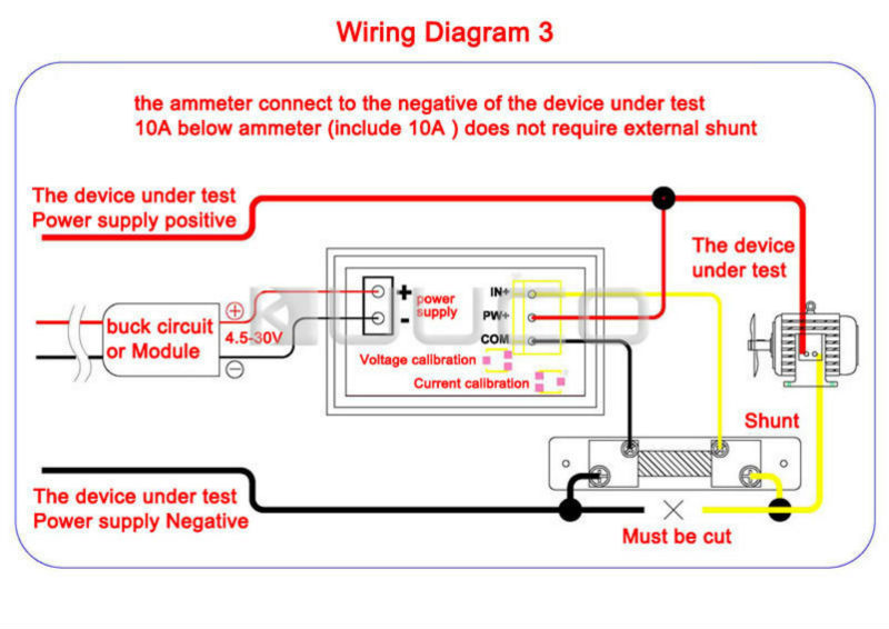 UT83jyEXiJcXXagOFbXx 2in1 ammeter voltmeter dc 0~100v 50a voltage current meter dual defi tachometer wiring diagram at bayanpartner.co