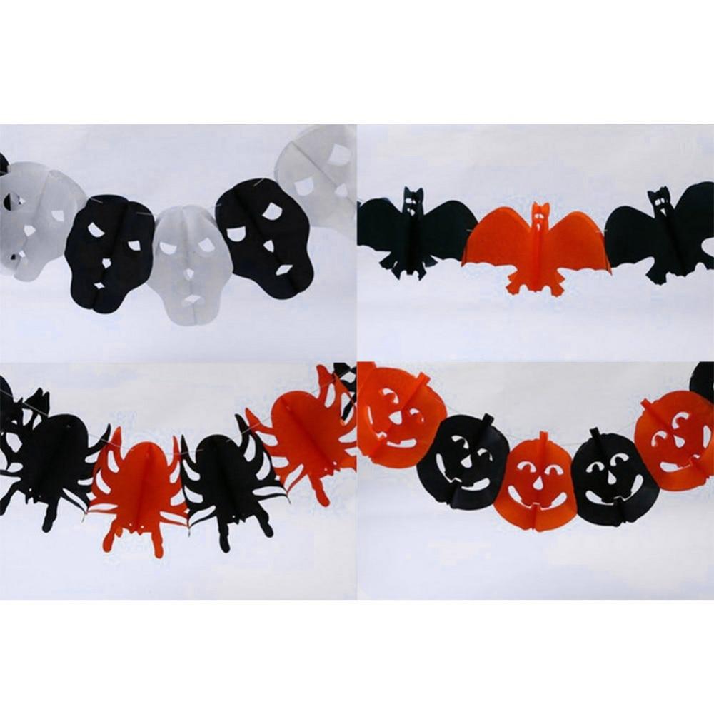 halloween paper garland main bar pub decorations halloween props 5 styles - Halloween Paper Decorations