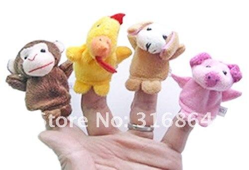 Марионетки игрушки 12 стиле, с животным принтом, подарок на год 12 шт./компл. 5 компл./лот фабричная поставка