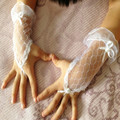 Best Selling Real Pictures Luvas de Pulso Comprimento Luvas de Casamento Para As Crianças Da Menina de Flor Acessórios Do Casamento Da Moda
