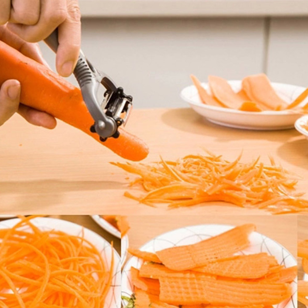 New Arrive Multifunctional 360 Degree Rotary Potato Peeler Vegetable Cutter Frui