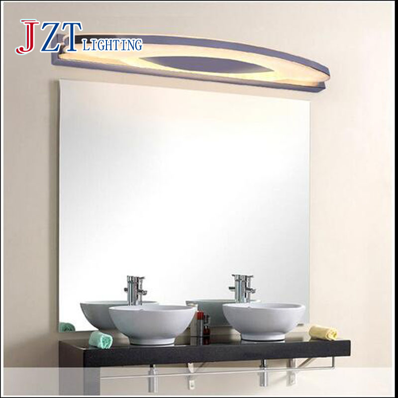 T 2016 New Waterproof Bathroom Mirror Light LED Wall Lamp Simple Modern For Make up Acrylic Simple Modern Fashion Dhl Free luxury modern white acrylic 12w led bathroom wall lamp mirror front fashion wall light showroom washroom wall lamp