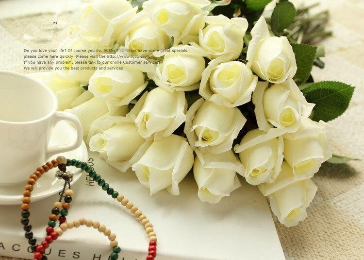 Hoa hồng giả HH-171: Mẫu A - Màu trắng