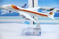 бесплатная доставка, сопровождать модель самолета, авиакомпании иберия в747-200, 16 см, модели самолета металла