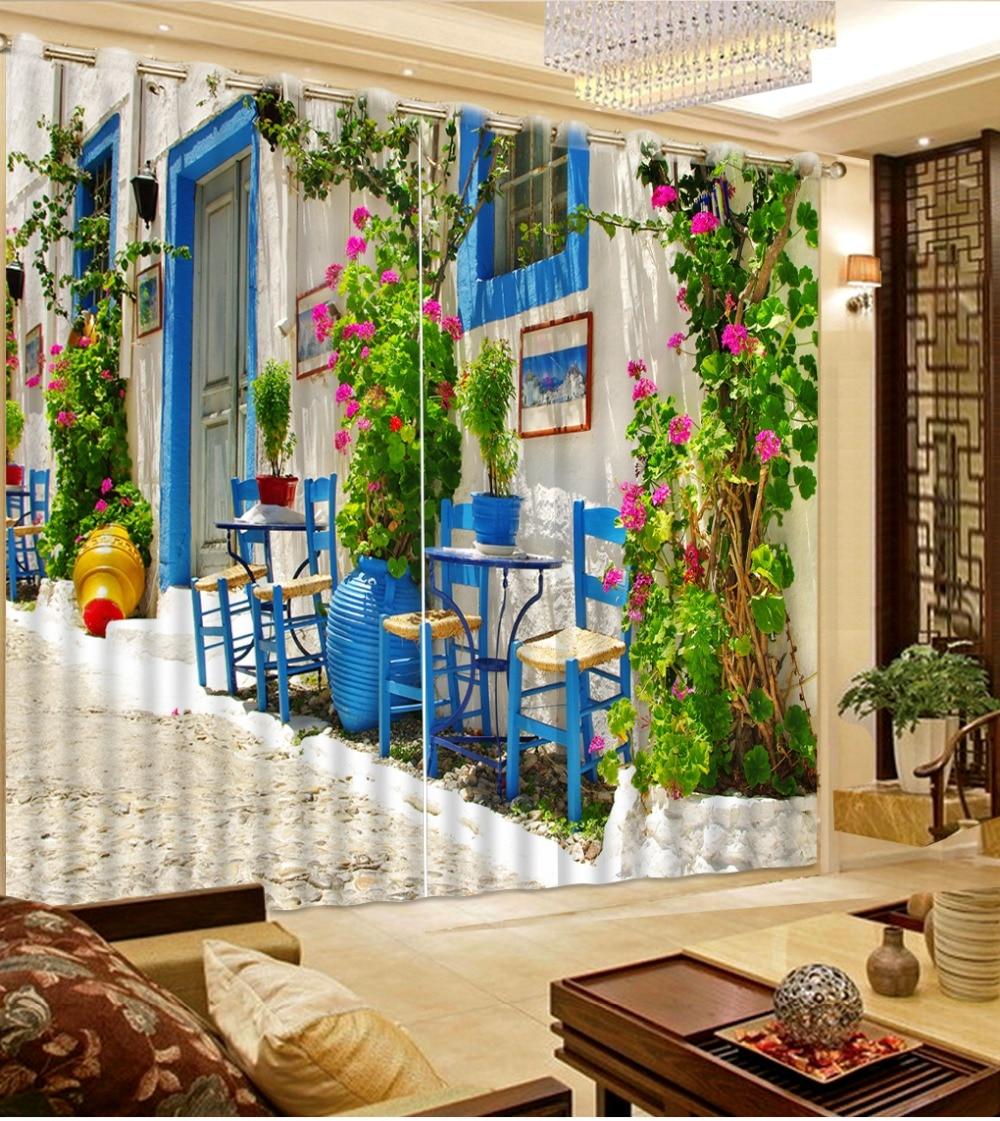 Украшение для дома, спальни, топ, классика, 3D, Европейский стиль, строящийся дом, на заказ, шторы, природа, окна