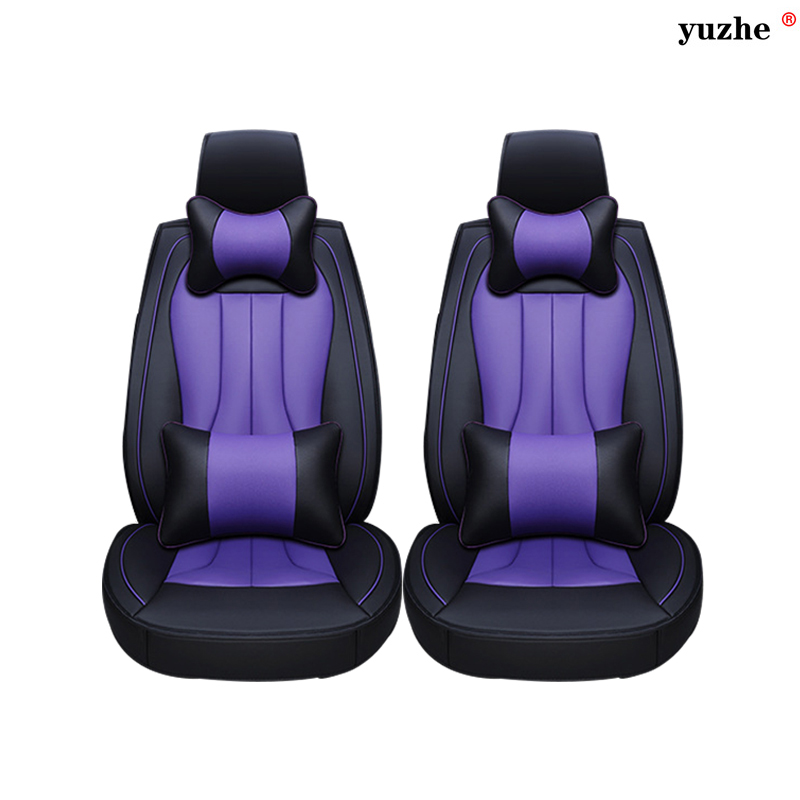 2 pcs Leather car seat covers For Volvo XC60 XC90 S60L S90 V40 V60 S60 V70 S40 ar accessories styling black red blue purple блокировщик автомобильных дверных замков yunc v40 v60 s60 s60l xc60 xc90