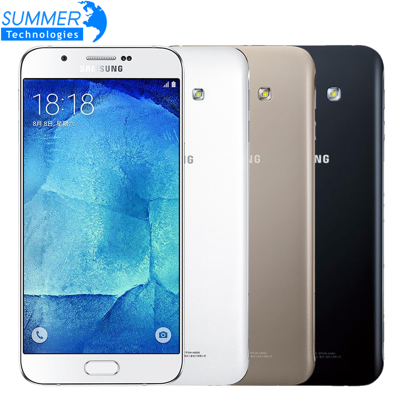 Original Unlocked Samsung Galaxy A8 A8000 Octa Core 4G LTE Mobile Phone 2G RAM 16G ROM