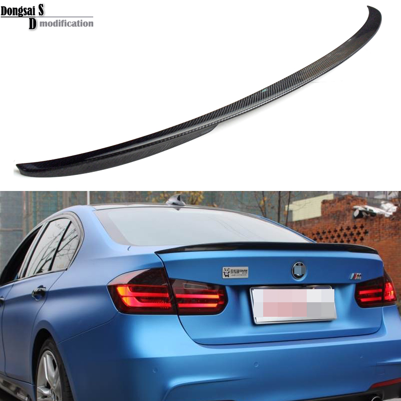 Carbon fiber  M - performance  P style rear trunk spoiler wings for BMW 3 series F30 sedan vehicle  2012 + 316i 320i 328i 335i 2015 2016 amg style w205 carbon fiber rear trunk spoiler wings for mercedes c class c180 c200 c250 c300 c350 c400 c450 c220