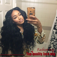 Hot Selling 14″-28″ 180% Heavy Density Wave Wigs Synthetic Lace Front Wigs Middle Part Heat Resistant Synthetic Hair Wigs