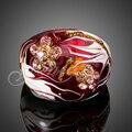 Jenia Новый Бижутерия Позолоченные Австрийский хрусталь Темно-Красный Картина Маслом Кольцо для Мужчин и Женщин XR112