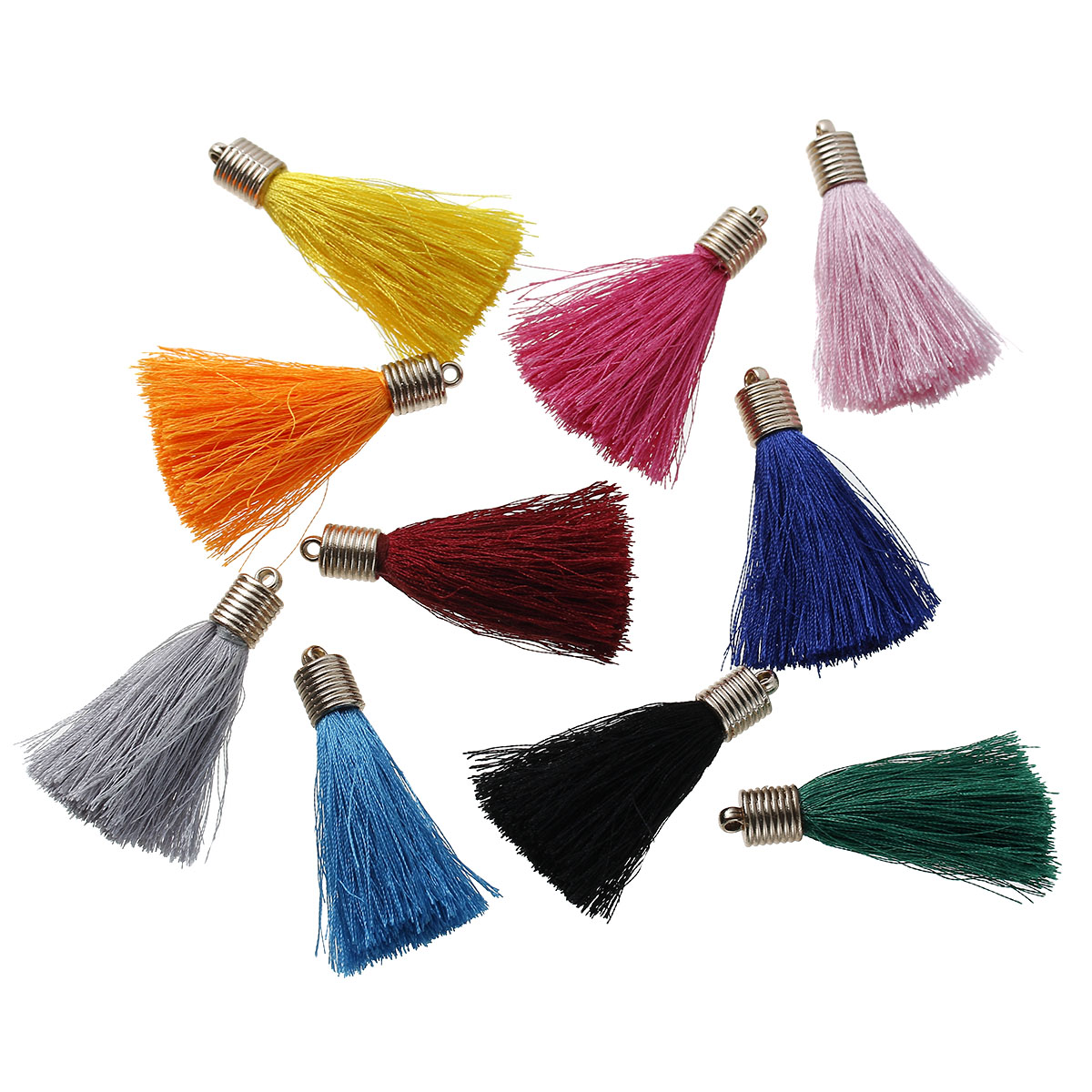 5pcs 55mm Mixed Color Tassel Diy Earring Necklace Jewelry Making Findings  Gold Caps Sewing Accessories Handmade