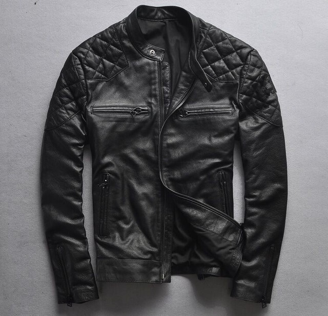6e214a7217e6 Modo-di-marca-giacca-moto-nera-cowskin-David-Beckham-style-slim-fit-vintage- genuino-uomini-giacca.jpg_640x640.jpg