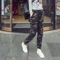 #2102 Летние брюки 2016 Камуфляж брюки для женщин Повседневная Мода Военная Гарем женские брюки Брюки-Карго Армия Бегунов женщины