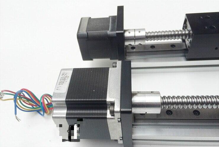 Livraison gratuite avec 57 moteur glissière linéaire vis à billes linéaire guide curseur course effective 300mm précision glisser