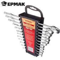 """Conjunto de llaves """"ERMAK"""" 12 artículos (6-22mm) herramientas llave destornillador jack ruedas reparación coche bicicleta descuento 736-050"""