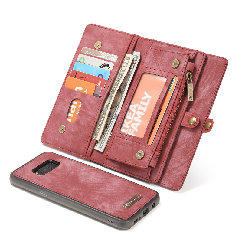 best website 08cfa 1bbcf Retro Leather Case Samsung S8 Wallet Case Card Slot Magnetic Cover Galaxy  S8 Wallet Samsung Galaxy S8 Plus