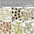 50 unids/lote 3D Nail Art Deco Square piedra Glitter Rhinestones De Cerámica