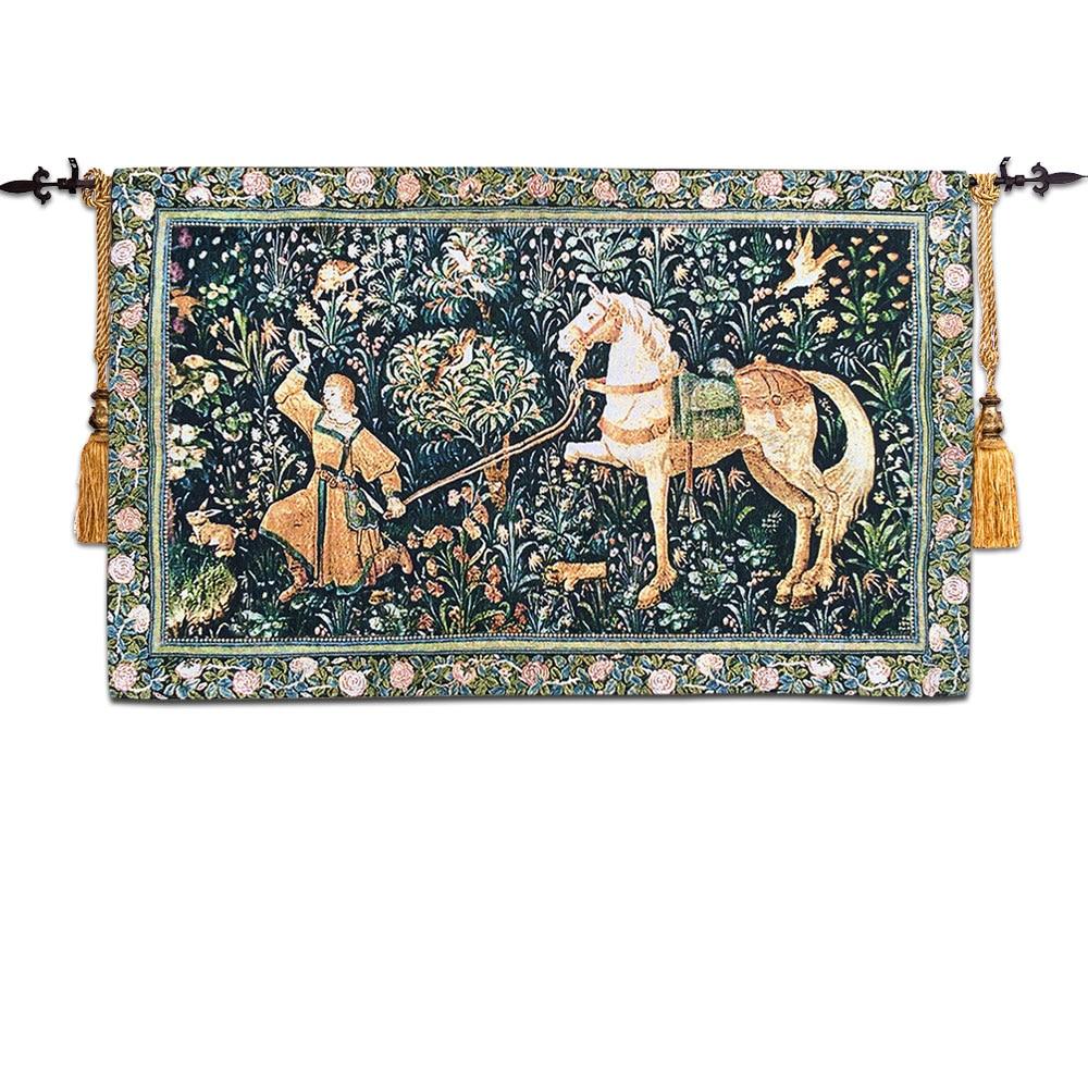 Y tapestri jacquard Ewropeaidd tapestrïau celf brethyn Gobelins