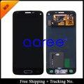 Frete grátis 100% testado Original para Samsung Galaxy S5 mini-g800 G800F LCD digitador assembléia com home button - preto / branco